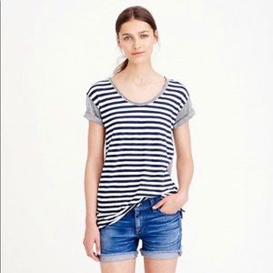 J.Crew Vintage Cotton Colorblock Stripe Tee